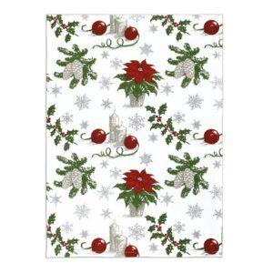 SCANquilt - utěrka DEKORO vánoční hvězda červenošedá 50 x 70 cm - Atraktivní plédy a přehozy