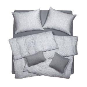 SCANquilt - povlečení JERSEY melange šedá 140 x 200/70 x 90 cm - Povlečení SCANquilt