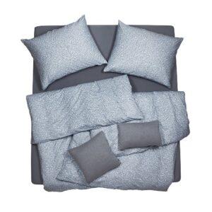SCANquilt - povlečení JERSEY mandala tyrkysovohnědá 140 x 200/70 x 90 cm - Povlečení SCANquilt